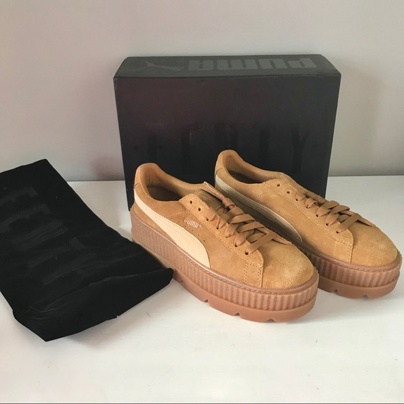 f93de76497e Puma NEW Fenty suede cleated creeper Rihanna brown